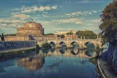 Castle Sant ` Angelo στη Ρώμη Στοκ Εικόνες