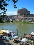 Castle Sant Angelo. Near Vatican City, Rome, Italy stock photos