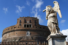 Castle Sant'Angelo and an angel Royalty Free Stock Photo