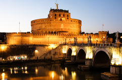 Castle of Sant Angelo at night Royalty Free Stock Photos