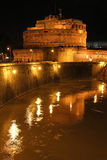 Castle Sant'Angelo by night Stock Photography