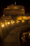 Castle Sant Angelo and river Tiber in Rome, Italy royalty free stock photos