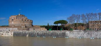 Castle Sant Angelo in Rom Stock Images