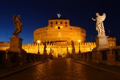 Castle of Sant' Angelo, Roma Stock Photos