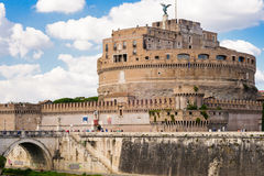 Castle Sant Angelo in Roma. Italy. Castle and bridge Sant Angelo in Roma. Italy Royalty Free Stock Photography