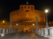 Castle sant' angelo in Rome royalty free stock images