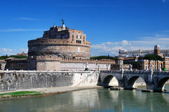 Castle Sant Angelo in Rome Stock Image