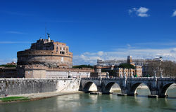 Castle Sant Angelo in Rome Stock Photography