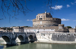 Castle Sant Angelo in Rome royalty free stock photography