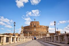 Castle Sant Angelo in Rome Stock Images