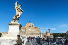Castle of Sant Angelo in Rome, Italy Stock Images