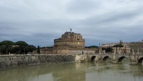Castle of Sant Angelo in Rome stock video footage