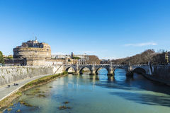 Castle of Sant Angelo in Rome, Italy Stock Image