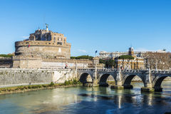 Castle of Sant Angelo in Rome, Italy Stock Photo