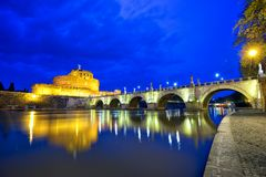 Castle Sant Angelo in Rome royalty free stock photo