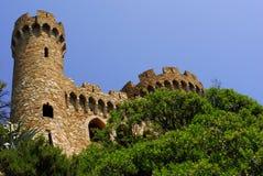 Castle Sant Joan in Costa Brava,Cat Stock Photo