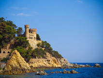 Castle Sant Joan in Costa Brava , Royalty Free Stock Photo