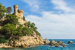 Castle Sant Joan stock photo