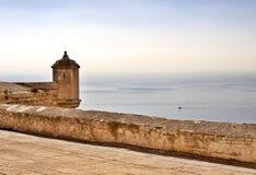 Castle Santa Barbara. Fortifications of the Castle Santa Barbara, Alicante Royalty Free Stock Photos