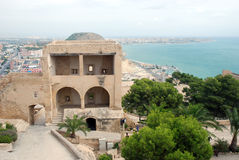 Castle Santa Barbara in Alicante Stock Images