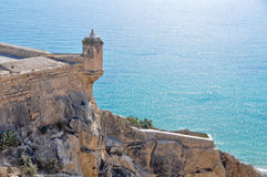 Castle of Santa Barbara, Alicante (Spain) Stock Photos