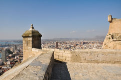 Castle of Santa Barbara, Alicante (Spain) Royalty Free Stock Photo