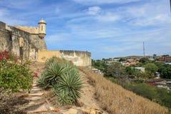 Castle Santa María de la Cabeza from side stock photography