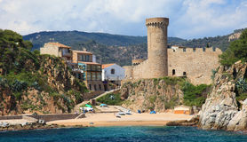 Castle in Santa Maria de Llorell. Royalty Free Stock Photo