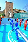 The Castle of Santa Severa foosball. Santa Marinella Rome Italy The Castle of Santa Severa is one of the most important areas of archaeological interest on the royalty free stock photography