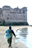 The Castle of Santa Severa. Santa Marinella Rome Italy The Castle of Santa Severa is one of the most important areas of archaeological interest on the Tyrrhenian stock images
