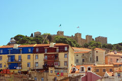 Castle of Sao Jorge Royalty Free Stock Photo