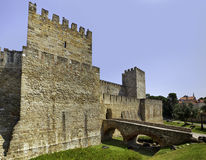 Castle of Sao Jorge at Lisbon Stock Photos