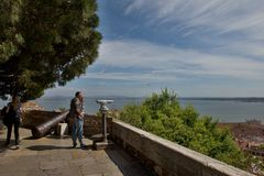 Castle of Sao Jorge in Lisbon Royalty Free Stock Image