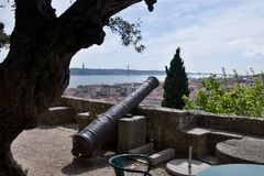 Castle of Sao Jorge in Lisbon Stock Photos