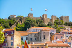 Castle Sao Jorge in Lisbon, Portugal Royalty Free Stock Photo