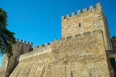 Castle Sao Jorge in Lisbon, Portugal Royalty Free Stock Photography