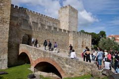 Castle of Sao Jorge in Lisbon Royalty Free Stock Photo