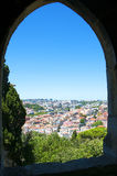 The castle of Sao Jorge overlooking the city of Lison Portugal Stock Photo