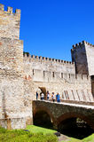 The castle of Sao Jorge overlooking the city of Lison Portugal Royalty Free Stock Photo