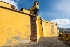 Castle of Sao Tiago in Funchal, Madeira, Portugal Stock Photography