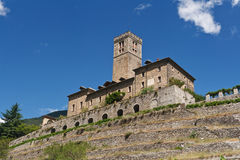 Castle in Sarre, Italy Stock Image