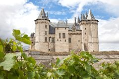Castle Saumur in France Royalty Free Stock Image