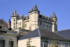 Castle of Saumur in France Stock Image