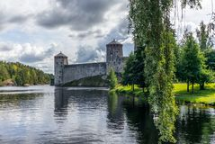 The castle of Savonlinna on the shore of the Saimaa lake in Finland - 1 royalty free stock photo
