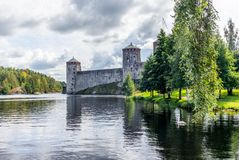 The castle of Savonlinna on the shore of the Saimaa lake in Finland - 1 stock image