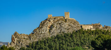 The castle of Sax, a fortress over big rock in Alicante, spain Stock Photography