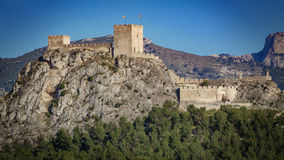The castle of Sax is a fortress over big rock in Alicante, spain Royalty Free Stock Image