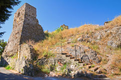 Castle of Scalea. Calabria. Italy. Royalty Free Stock Photos