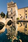 Castle of Scaligero, famous landmark of the Lake Garda, Italy. Stock Photography
