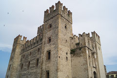 Castle of Scaligers. In Sirmione, Italy Stock Image
